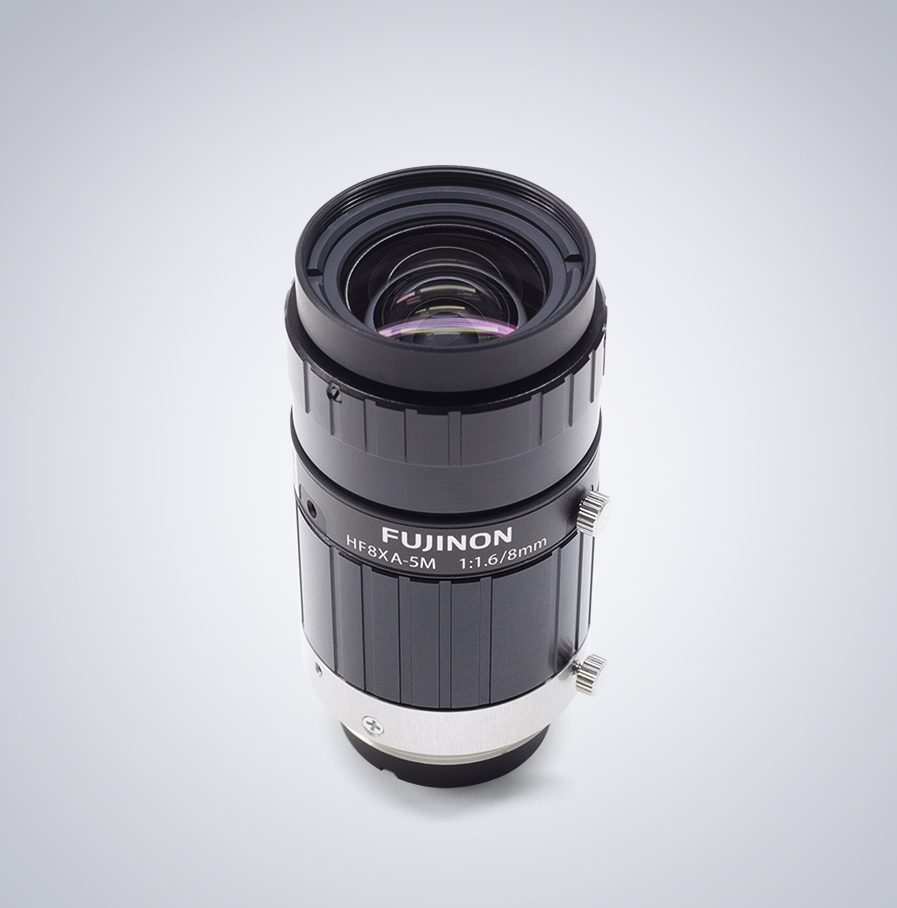 HF8XA-5M Fujifilm 5,0MP C-Mount Objektiv mit einer festen Brennweite von 8mm und einem Blendenumfang von F1.6 - F16.