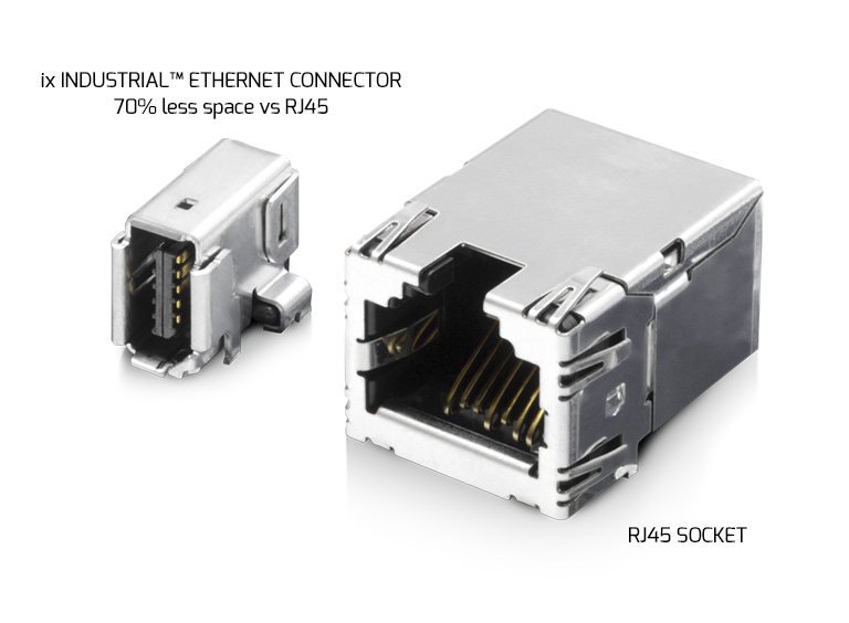 ix Industrial Ethernet Connector vs RJ45 Socket