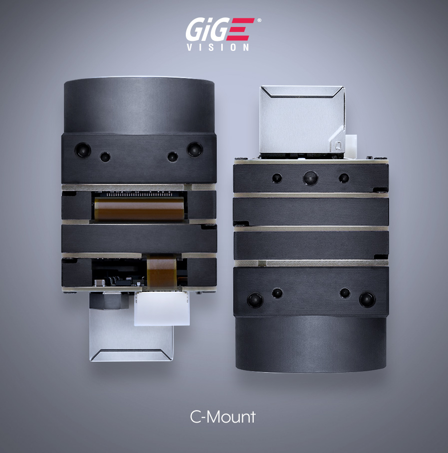 Phoenix 28x28mm C-Mount Machine Vision GigE Camera - Top Down - Machine Vision