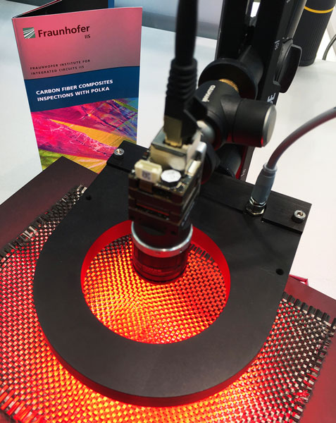 Patch of Carbon Fibre Inspection with Lucid polarization camera