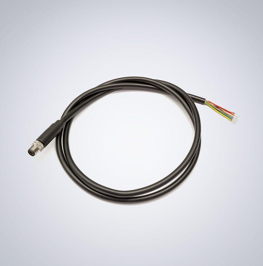 8ピン、1.0m GPIOケーブル、M8コネクター