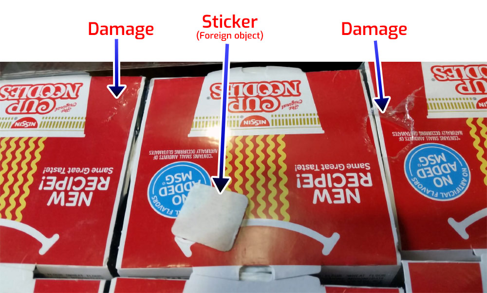 Damaged Plastic Wrap Polarization inspection