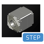 Atlas c-mount CAD step file