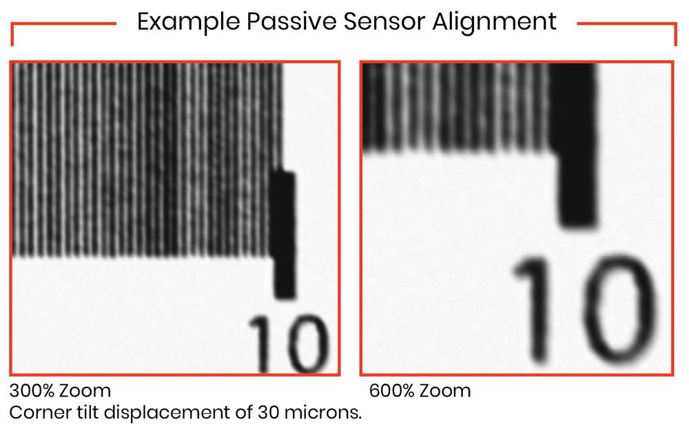 Example of corner with passive alignment