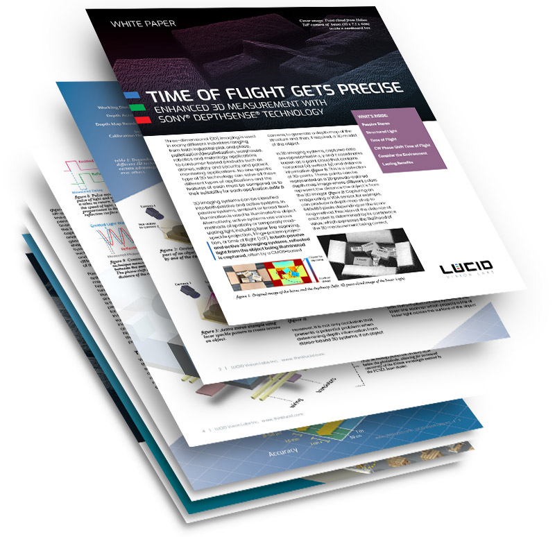 Time of Flight Camera with Sony DepthSense White Paper