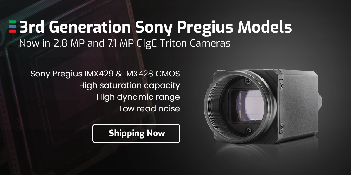 New 3rd Gen Sony sensors for Triton Camera