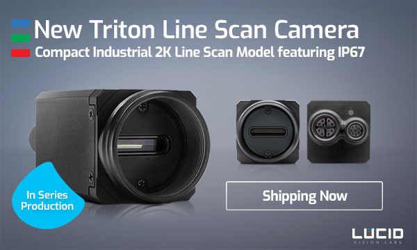 New Triton 2K Line Scan Camera with IP67