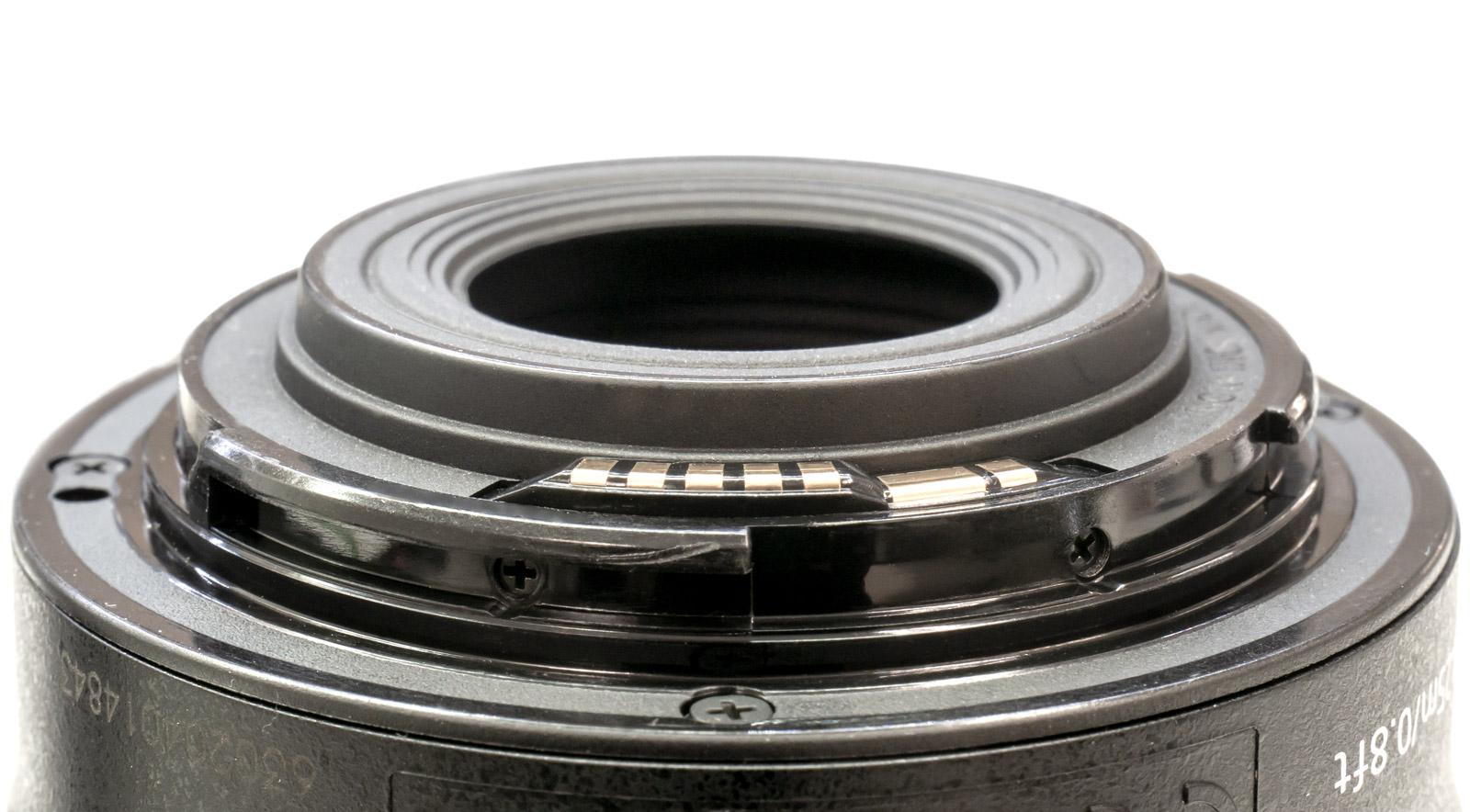 Bayonette lens mount