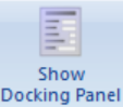 show docking panel button