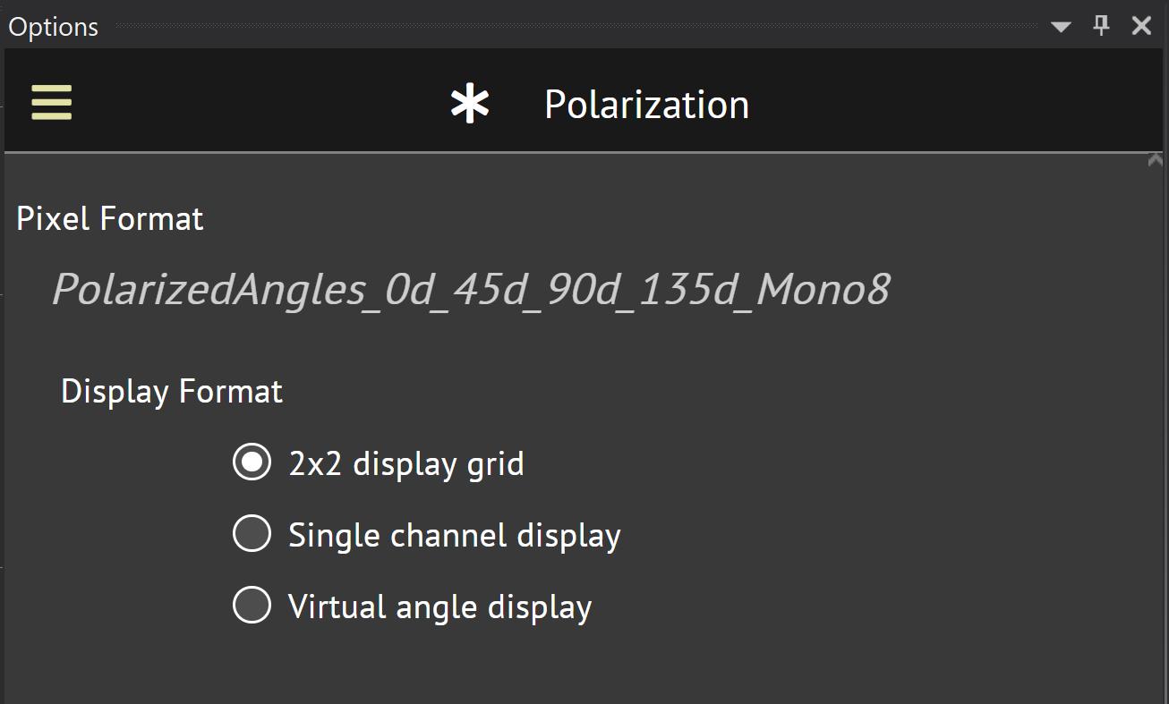2x2 polarization display grid
