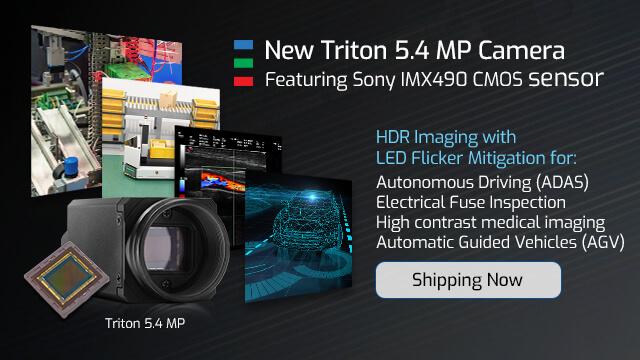 Triton 5.4MP camera featuring IMX490