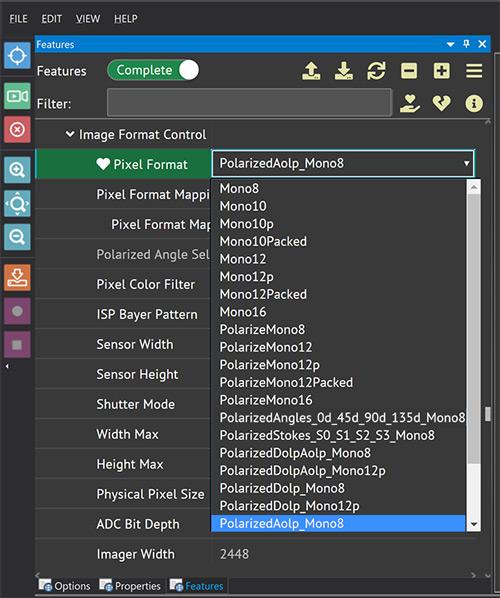 Polarized Aolp Pixel Format