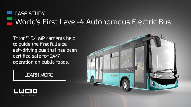 ADASTEC Autonomous bus uses Triton Cameras