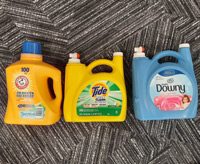 Large Laundry detergent bottles on carpet 3d point cloud thumbnail
