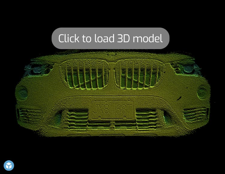 3D Point Cloud of front of car