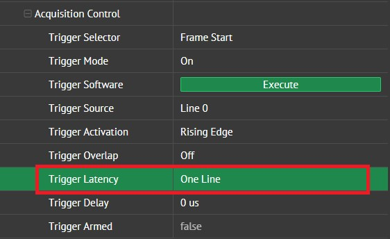 Trigger Latency Feature
