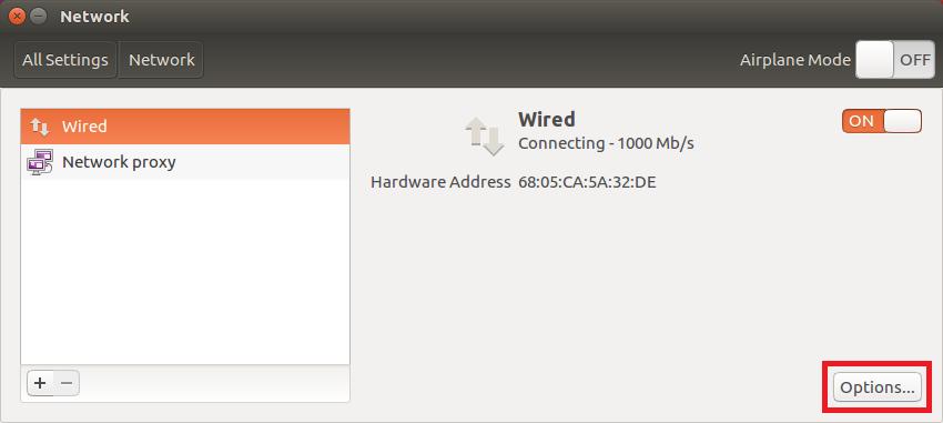 ubuntu edit properties