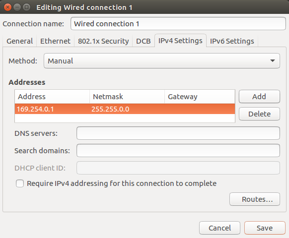 ubuntu ipv4 properties