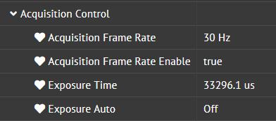 increase max exposure time of camera